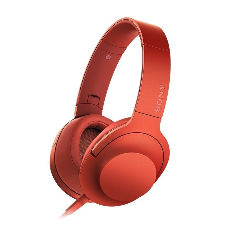 Наушники Sony h.ear on MDR-100AAP Red