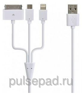 Henca USB кабель 3 in 1 USB Charger LC43-IMI Белый