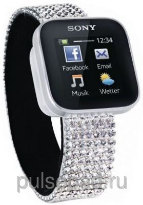Bluetooth Smart Watch with Swarovski Elements