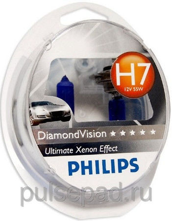 Галогенная лампа Philips H7 DiamondVision 12V 55W (12972DVS2)