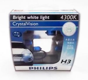 Галогенная лампа Philips H3 Crystal Vision 12V 55W (12336CVB1) 2шт