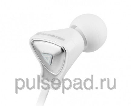 Monster DNA In-Ear Headphones with Apple Control Talk White with Satin Chrome Finish