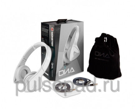 Monster DNA On-Ear Headphones White Over Light Grey