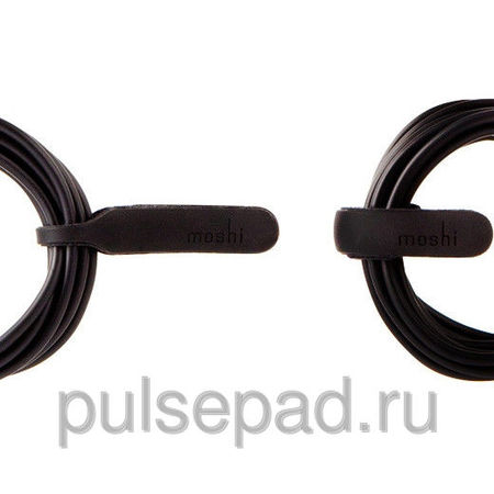 Аудиокабель Moshi Mini-Stereo Audio Cable для Device with 3.5mm jack 1.8 m, чёрный