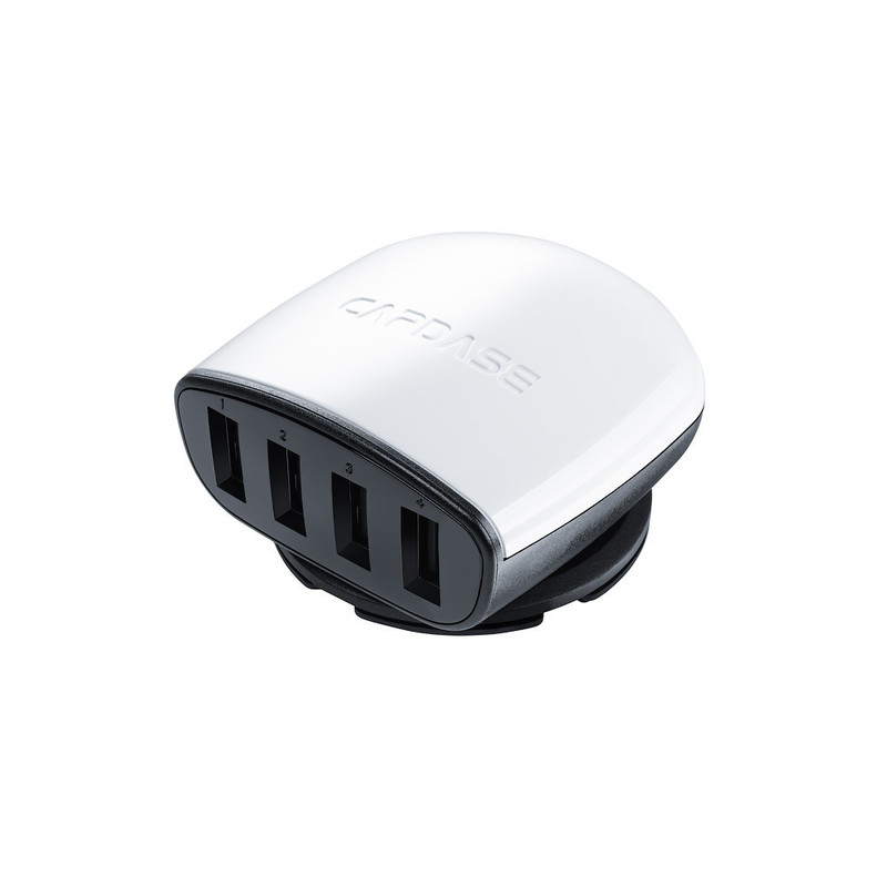 CAPDASE Quartet USB Car Charger Boosta Z4 (6.2 A) White for iPhone/iPod/iPad mini/iPad (CA00-7B02)