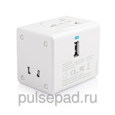 Сетевое зарядное устройство Capdase Travel Adapter BlockOne для Apple iPhone/iPod/iPad mini/iPad/Smartphones 2.1 A, белое