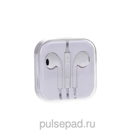 Наушники EarPods with Remote and Mic белые