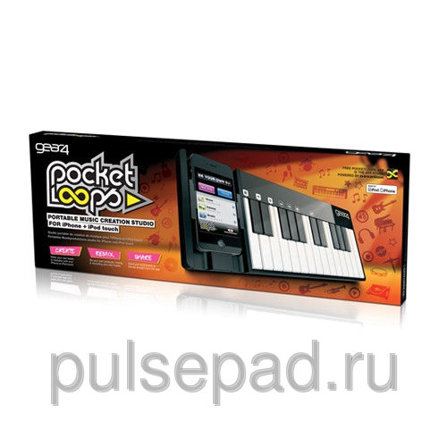 Синтезатор Gear4 PocketLoops Global для Apple iPhone 4/4S/iPod Touch 4G чёрный, белый