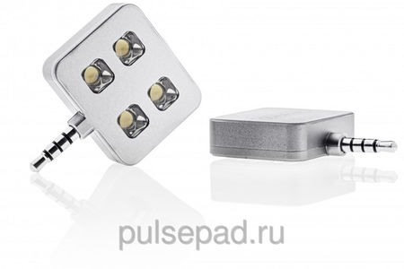 LED-вспышка iBlazr Aluminium для iPhone/iPod/iPad mini/iPad/Smartphones/Tablets серебристая