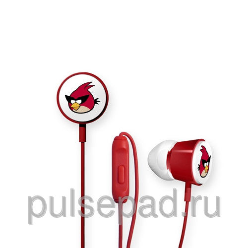 Наушники Gear4 Angry Birds Deluxe Space Red Bird красные