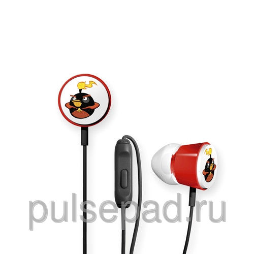 Наушники Gear4 Angry Birds Deluxe Space Black Bomber чёрные