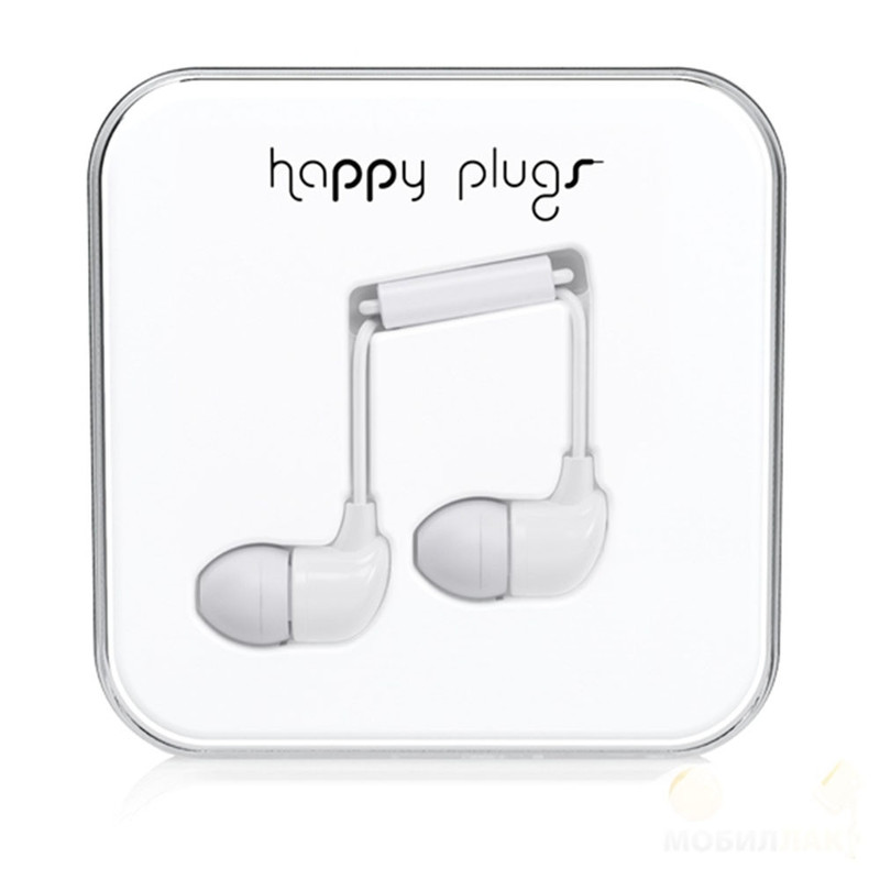 Наушники Happy Plugs In-Ear белые