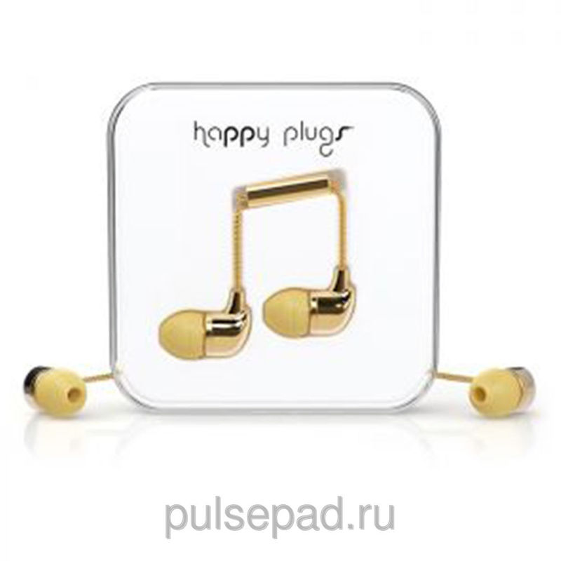 Наушники Happy Plugs Deluxe Edition Earbud золотые