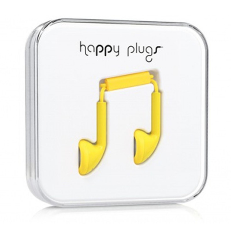 Наушники Happy Plugs Earbud желтые