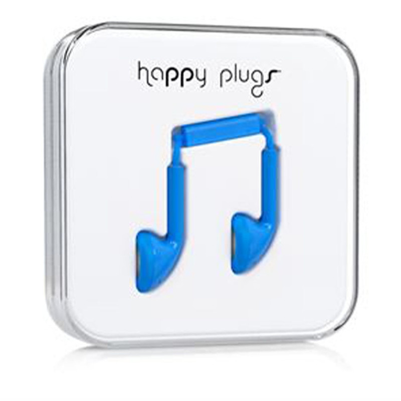Наушники Happy Plugs Earbud голубые