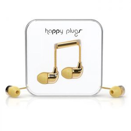 Наушники Happy Plugs Deluxe Edition In-Ear золотые