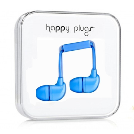 Наушники Happy Plugs In-Ear голубые