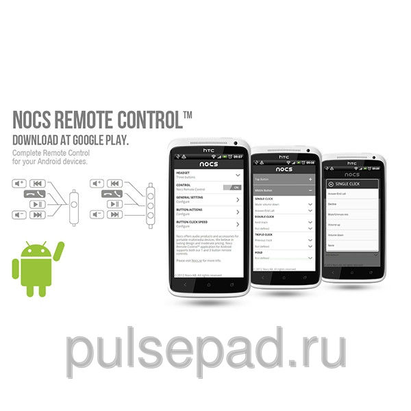 Наушники Nocs NS200 для Android Device белые