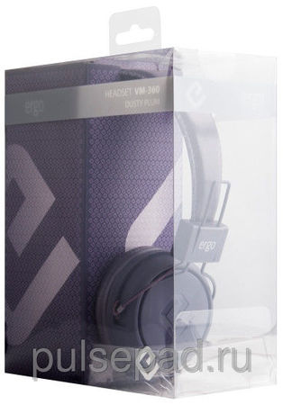 Наушники Ergo VM-360 Dusty Plum