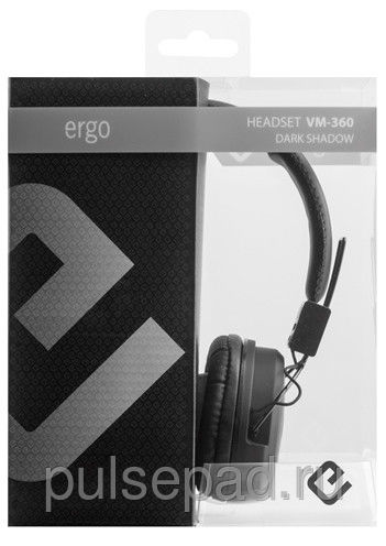 Наушники Ergo VM-360 Dark Shadow