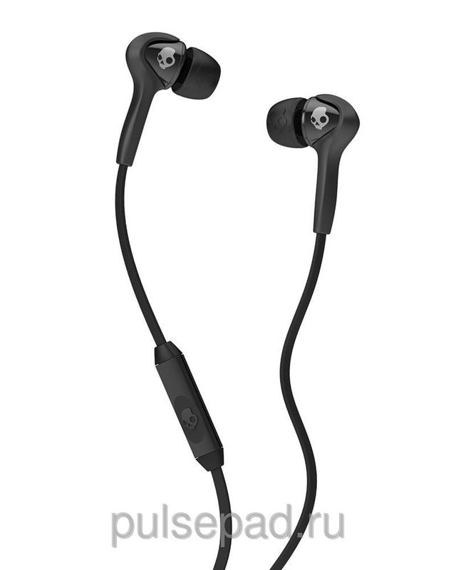 НАУШНИКИ SKULLCANDY SMOKIN BUDS BLACK/BLACK W/MIC