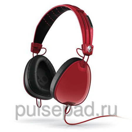 НАУШНИКИ SKULLCANDY AVIATOR RED/BLACK W/MIC3