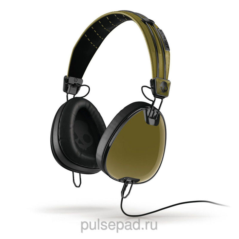 НАУШНИКИ SKULLCANDY AVIATOR GREEN/BLACK W/MIC3