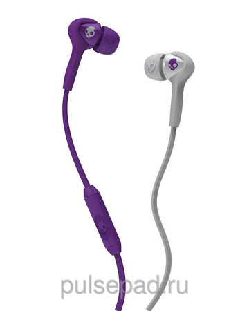 НАУШНИКИ SKULLCANDY SMOKIN BUDS ATHLETIC PURPLE/GREY W/MIC