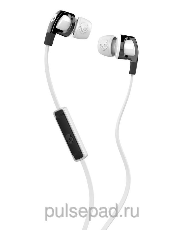 НАУШНИКИ SKULLCANDY SMOKIN BUD 2.0 BLACK/WHITE MIC1