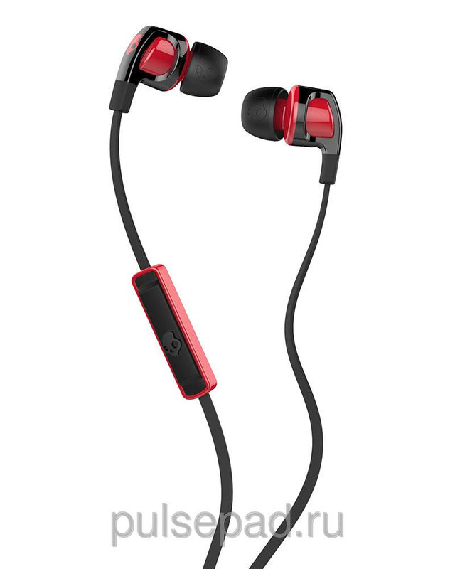 НАУШНИКИ SKULLCANDY SMOKIN BUD 2.0 BLACK/RED MIC1