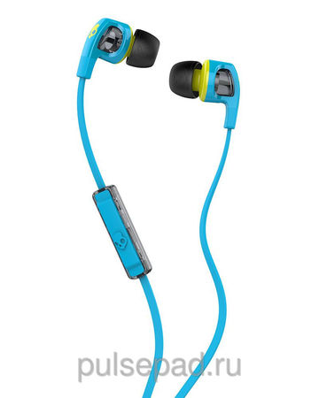 НАУШНИКИ SKULLCANDY SMOKIN BUD 2.0 HOT BLUE/HOT LIME MIC1