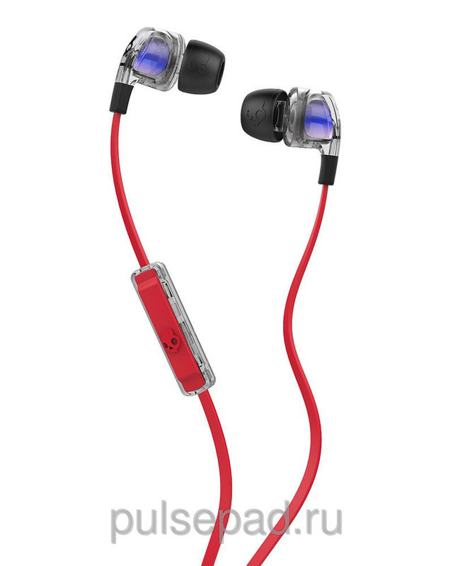 НАУШНИКИ SKULLCANDY SMOKIN BUD 2.0 SPACED OUT/CLEAR/BLACK MIC1