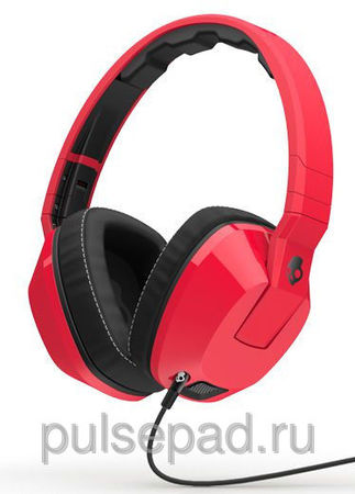 НАУШНИКИ SKULLCANDY CRUSHER RED/BLACK MIC1
