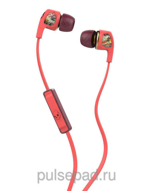 Наушники SkullCandy Dime Floral Mic1 (S2PGGY-419)