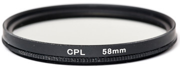 Светофильтр PowerPlant CPL 58 мм