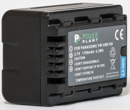 Аккумулятор PowerPlant Panasonic VW-VBK180 (1700 mAh) - DV00DV1291