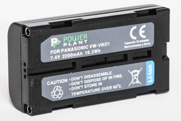 Aккумулятор PowerPlant Panasonic VW-VBD1, BN-V812 (2200 mAh) - DV00DV1340
