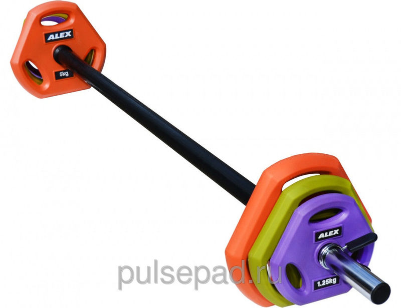 Штанга для боди-памп 20 кг Штанга для боди-памп Alex TPU Pump Weight Set 20 kg