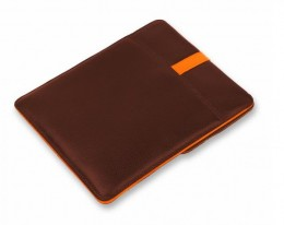 "Чехол для MacBook Air 11"" Luardi Leather pouch - Brown/Orange"