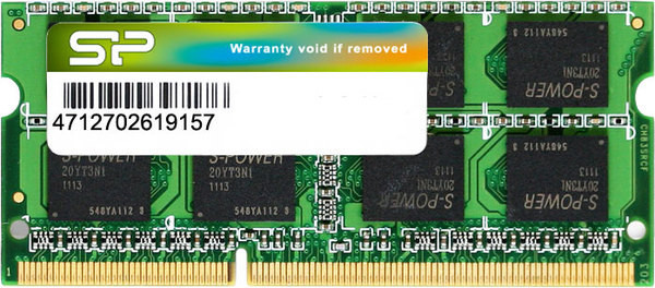 Оперативная память Silicon Power SODIMM DDR3 8GB 1333Mhz BULK SP008GBSTU133N02
