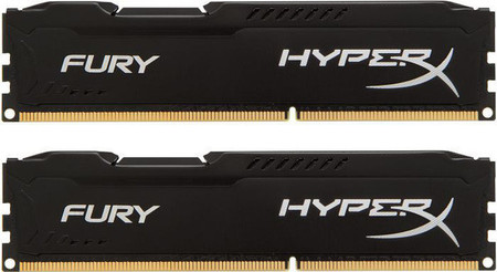 Оперативная память Kingston HyperX OC KIT DDR3 2 х 4 GB 1600 MHz CL10 Fury Black