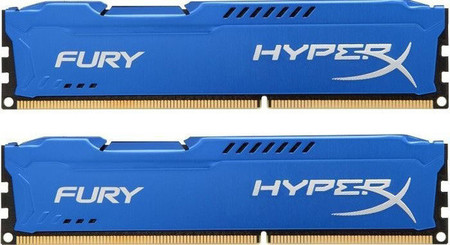 Оперативная память Kingston HyperX OC KIT DDR3 2 х 8 GB 1866 MHz CL10 Fury Blue