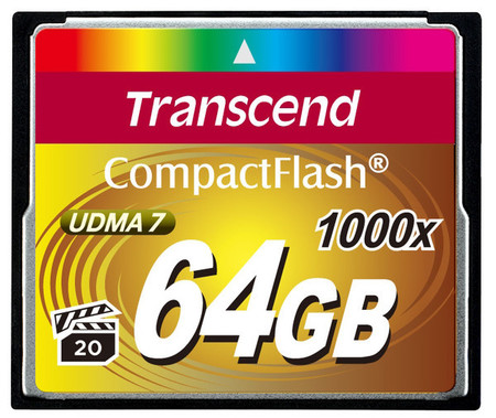 Карта памяти Transcend Compact Flash 64 GB (1000X)