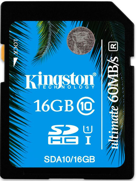 Карта памяти Kingston SDHC 16 GB Class 10 UHS-I Ultimate