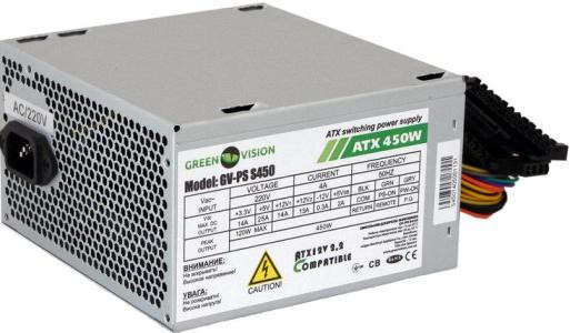 Блок питания Logicpower 450W GreenVision GV-PS ATX S450/12 Bulk