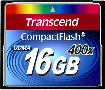 Карта памяти Transcend Compact Flash 16 GB (400X)