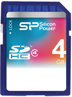Карта памяти Silicon Power SDHC 4 GB Class 4