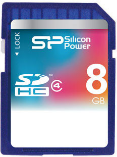 Карта памяти Silicon Power SDHC 8 GB Class 4