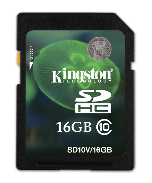 Карта памяти Kingston SDHC 16 GB Class 10 Entry Level