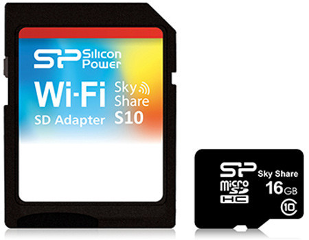 Карта памяти Silicon Power microSDHC 16 GB Class 10 (+ SD adapter Wi-Fi)